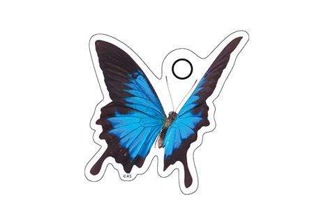 キーホルダー(A)ブルーバタフライ