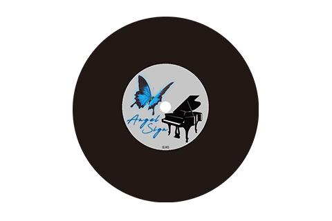 キーホルダー(B)レコード盤